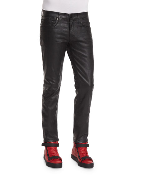 J Brand Tyler Painted Depth Coated Pants, Black