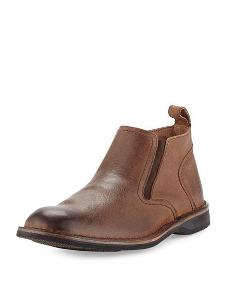 Andrew MarcEugene Leather Ankle Boot, Espresso/Black