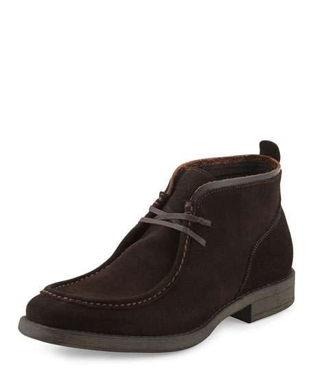 Andrew Marc Suede Lace-Up Chukka Boot, Coffee