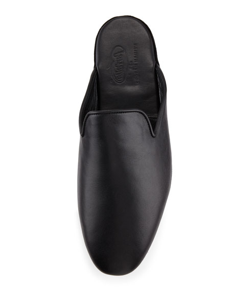 Leather Slipper, Black
