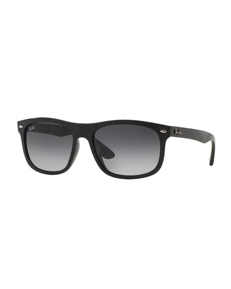 Ray-Ban Men's Flat-Top Plastic Sunglasses, Black