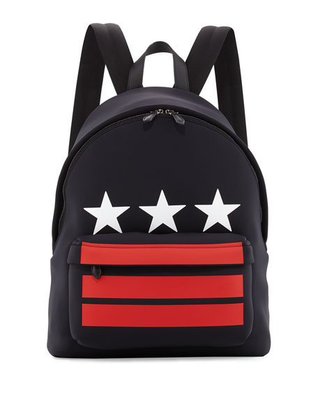 Givenchy Stars & Stripes Neoprene Backpack