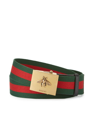 Canvas Web Belt w/ Bee Buckle