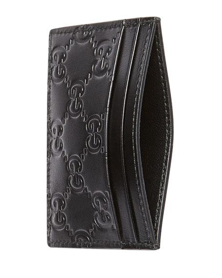 0a8d24ae97 Gucci Signature Leather Card Case