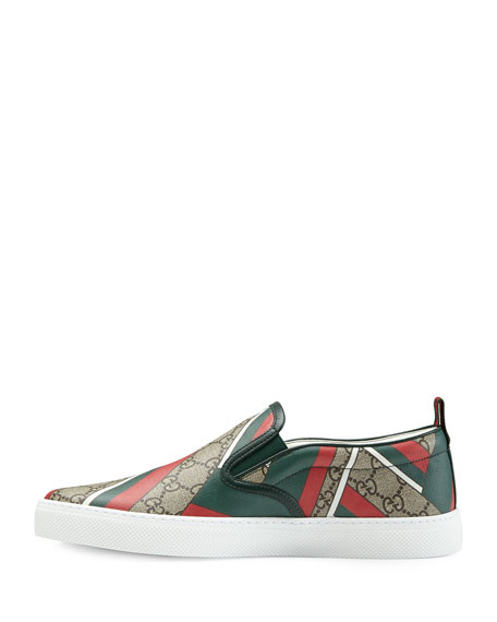 Dublin GG Chevron Canvas Slip-On Sneaker