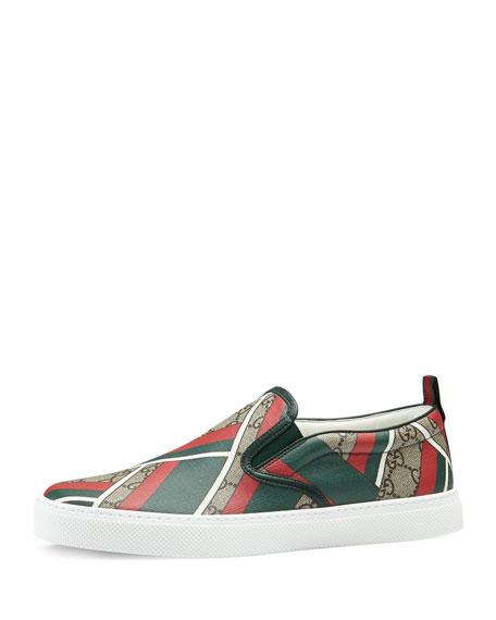 Gucci Dublin GG Chevron Canvas Slip-On Sneaker