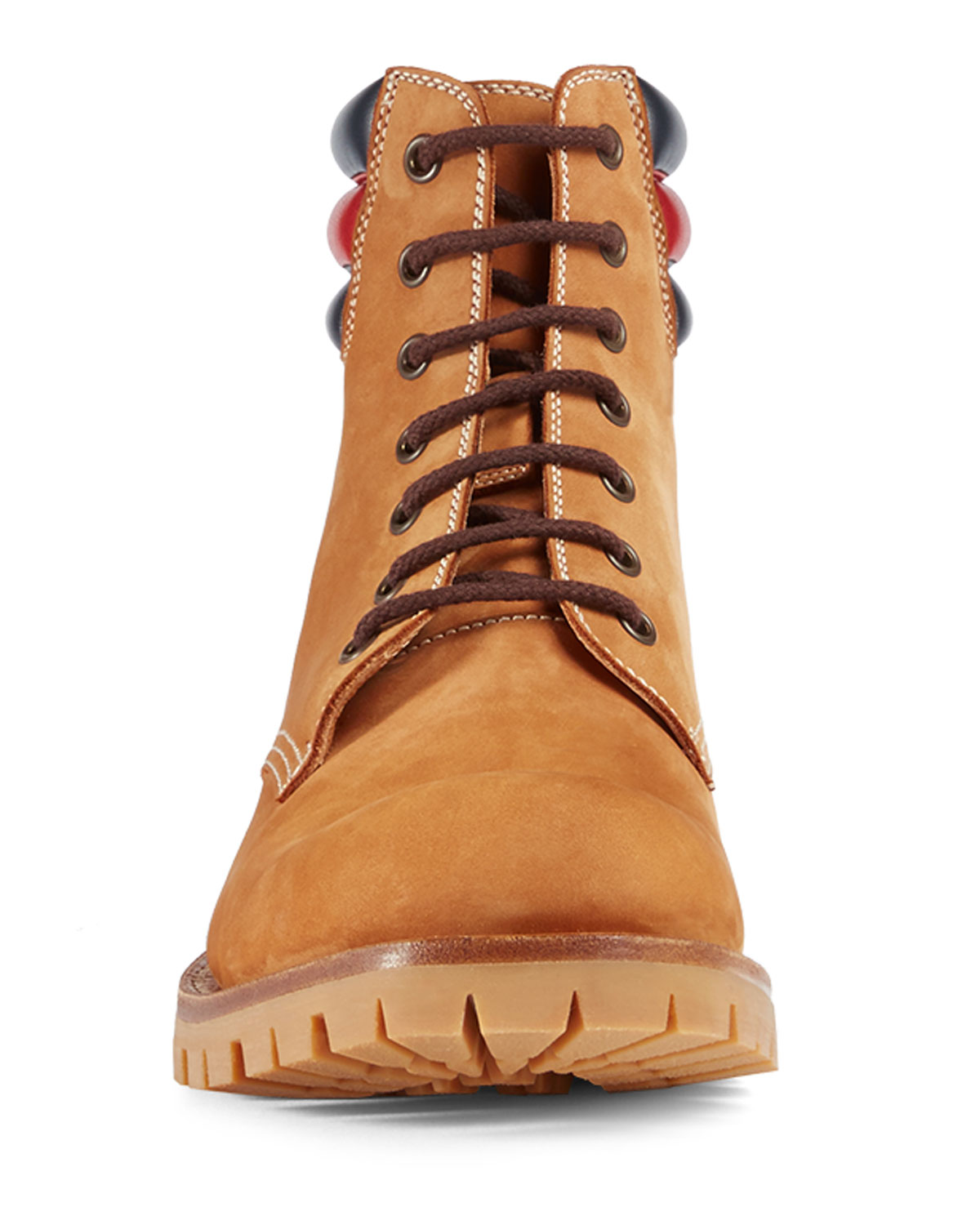 24cbabbf0 Gucci Marland Suede Hiking Boot w/Web Detail | Neiman Marcus