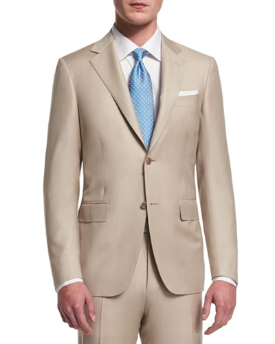 Sienna Contemporary-Fit Solid Two-Piece Suit, Tan