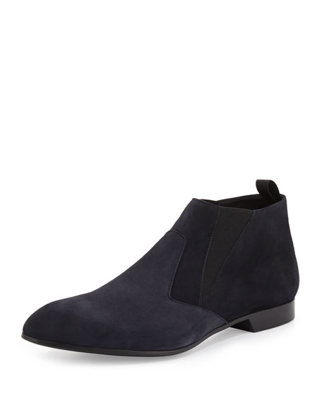 Suede Chelsea Boot, Blue