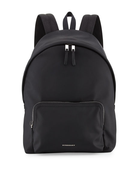 Burberry London Nylon Backpack, Black