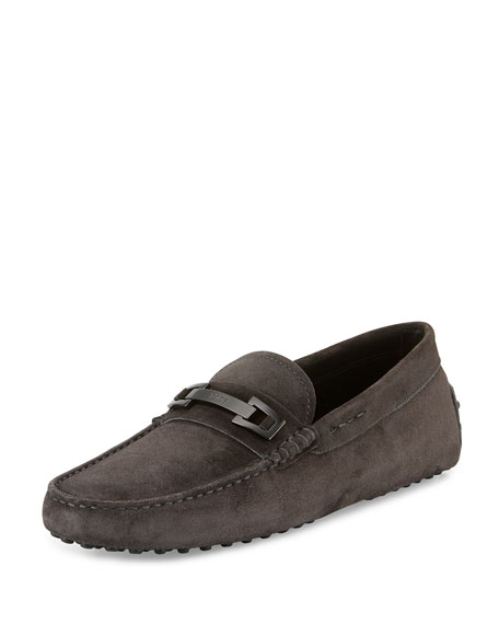 Tod's Gommini Suede Bit Driver, Gray