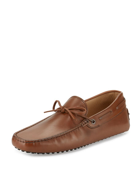 Tod's Gommini Tie Leather Driver, Brown
