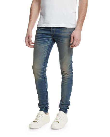 Standard Issue 'Fit 2' Slouchy Slim Fit Jeans (Distress Blue)