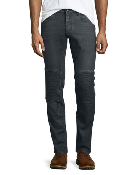 BelstaffBlackrod Slim-Stretch Jeans W/Knee Panels, Charcoal