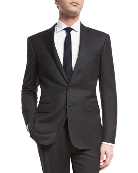 Ralph Lauren Anthony Trim-Fit Two-Piece Wool Suit, Charcoal