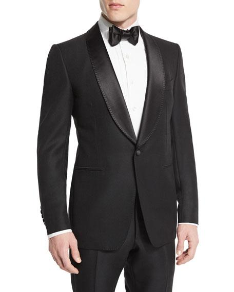 TOM FORD Buckley-Base Solid Tuxedo Jacket, Black