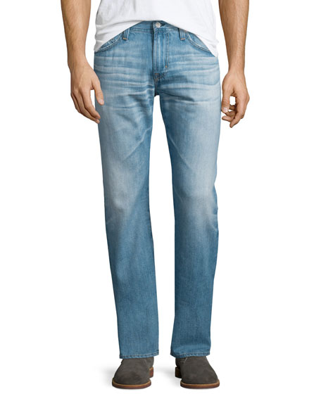 AG Adriano Goldschmied Graduate 24-Year Whitewashed Denim Jeans