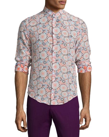 CoSTUME NATIONAL Mandarin-Collar Button-Front Dress Shirt,