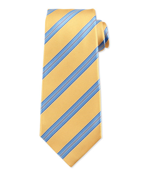 Striped Twill Silk Tie