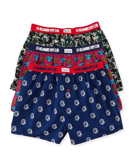 Billionaire Boys Club Multi-Print 3-Piece Boxer Gift Set