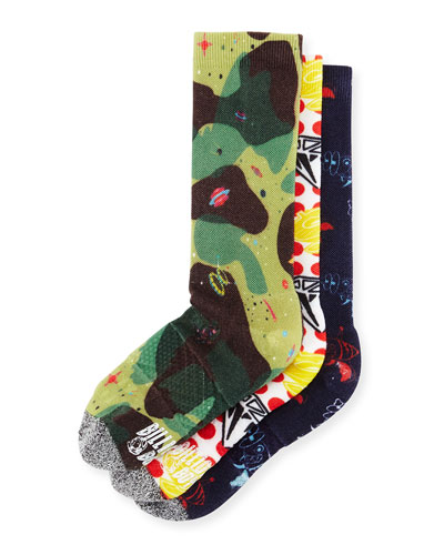 3-Piece Printed Sock Gift Set