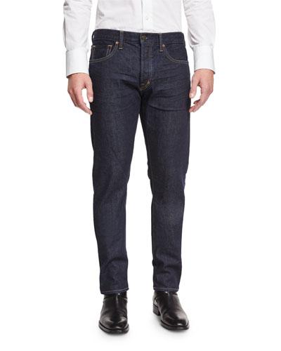 Regular-Fit New Indigo Stretch-Denim Jeans, Indigo