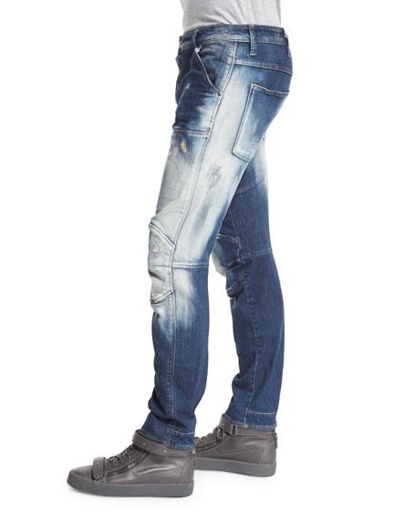G-Star 5620 3D Washed Out Slim Denim Jeans, Moon Wash Restore