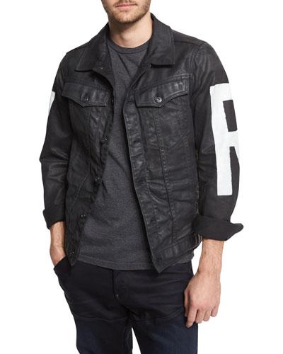 RAW Painted Denim Jacket, 3D Dark Aged