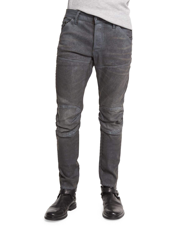 4888ce2df67 G-Star 5620 3D Slim-Fit Studded Moto Jeans, Dark Aged Cobbler ...