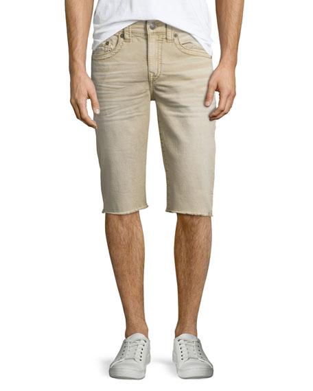 True Religion Geno Overdye Active Slim-Fit Denim Shorts,
