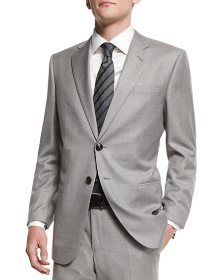 Giorgio Armani Taylor Solid Two-Piece Wool Suit, Light