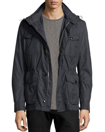 All-Weather Safari Jacket, Barchetta Blue