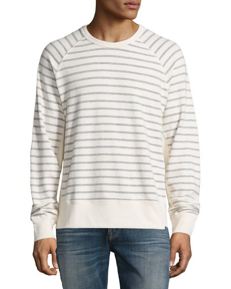 7 For All Mankind Striped Long-Sleeve T-Shirt, Ecru