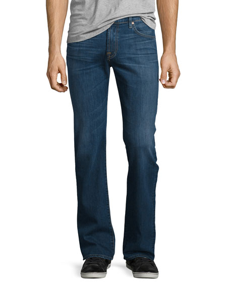 7 For All Mankind FoolProof Straight-Leg Denim Jeans,