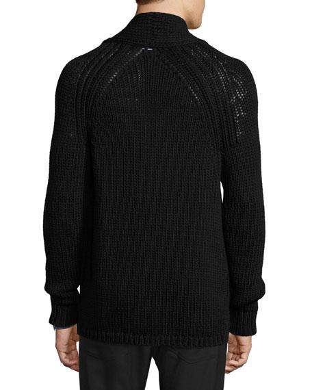 Roden Merino Wool-Blend Cardigan, Black