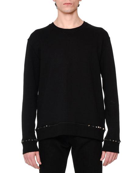 Valentino Buffalo Check Shirt, Rockstud-Trim Sweatshirt &
