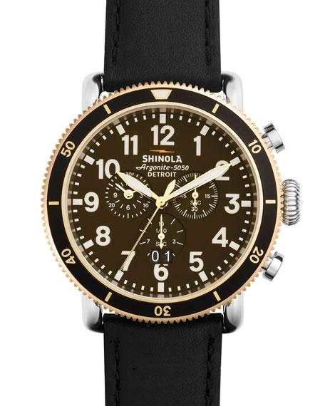 Shinola 47mm Runwell Sport Chronograph Watch with Black