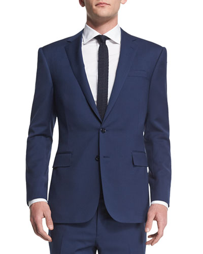 Anthony Basic Trim-Fit Wool Suit, Navy