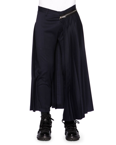 Dsquared2 Zipper Pleated Half-Skirt Trousers