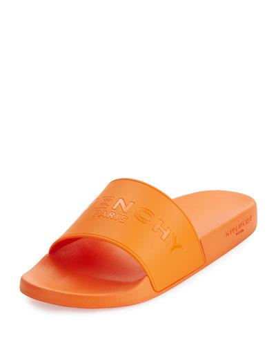 Men's Pool Slide Sandal, Orange