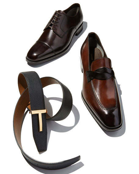Wessex Cap-Toe Leather Oxford, Brown