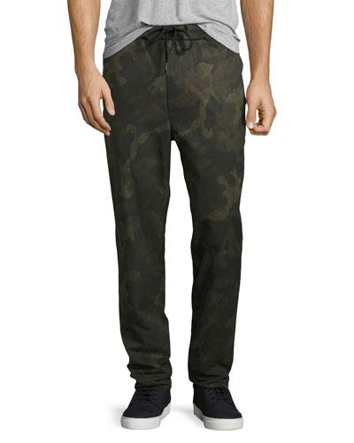 Drawstring Everett Trousers, Camo