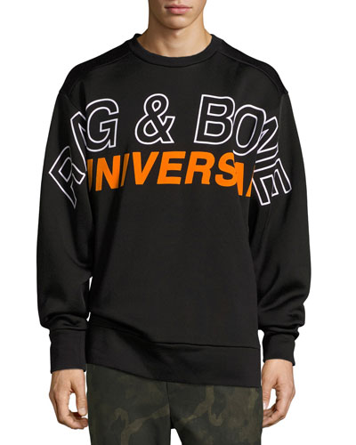 Jake Oversized Logo Sweatshirt, Black