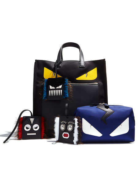 Monster Face Leather Toiletry Kit