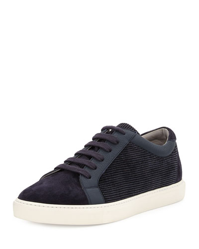 Apollo Suede & Corduroy Low-Top Sneaker