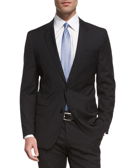 Huge Genius Slim-Fit Basic Suit, Black