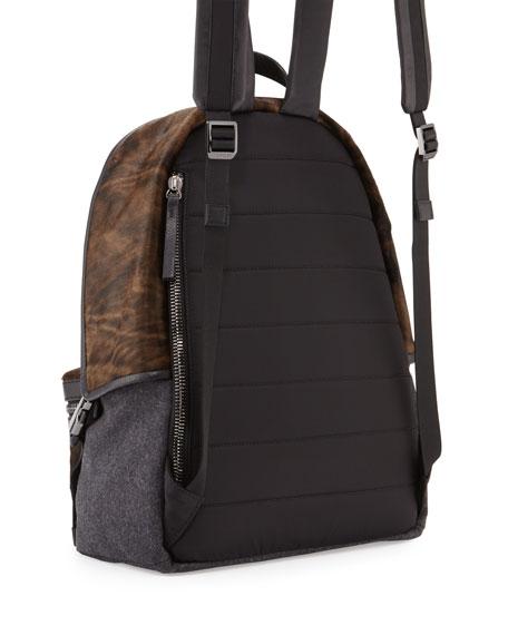 New Romeo Calf Hair & Wool-Blend Backpack