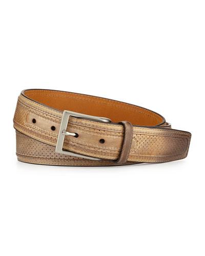 Perforated Leather Belt, Castoro