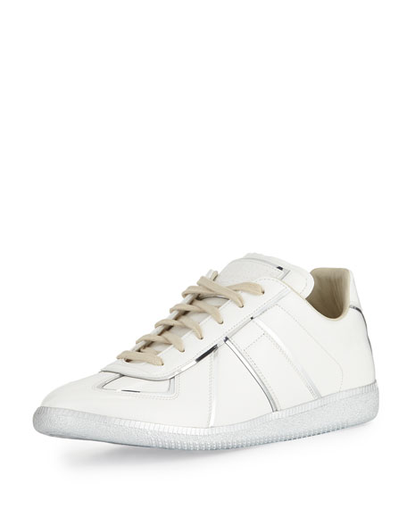 Maison Margiela Men's Replica Metal-Trim Low-Top Sneakers