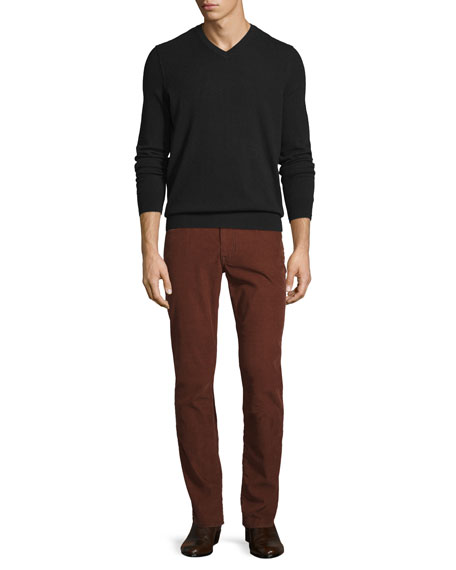 Cashmere Long-Sleeve V-Neck Sweater